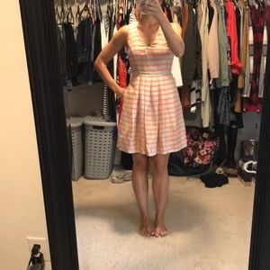 Linen halter dress